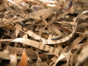 shredded newspaper